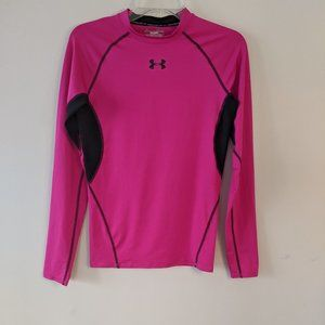 Under Armour • Pink Long Sleeve Compression Top M